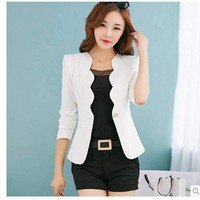 Women Blazers Jackets Casual Business Blazer Feminine Women Single Button Coat Outwear Blazer