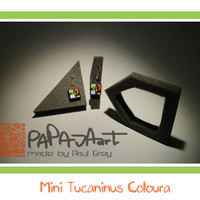 Mini Tucaninus Coloura - Wooden Hand Painted Earrings, Jewelry, Tucan Jewellery, Wood Earrings, Earrings with tucan, colourful earrings