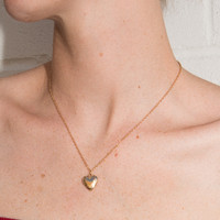 Gold Heart Locket Necklace - Jewelry - Accessories