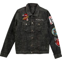 Rolling Stones Men's  Dragon Denim Jacket Denim Jacket Denim