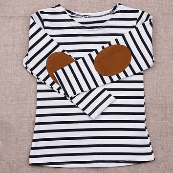Kids Long Sleeve Striped Cotton T-shirt Children Clothing Baby Boys Girls Tops Tees  Infant Casual Clothes