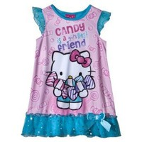 Hello Kitty Toddler Girls Night Gown - Pink $15.99