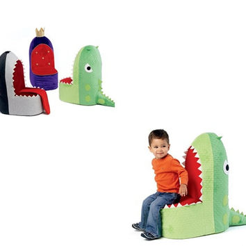 KIDS CHAIRS PATTERN / Make Dinosaur - Whale - Throne Chairs for Boys and Girls