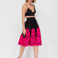 So Fancy Baroque Flared Mesh Skirt GoJane.com