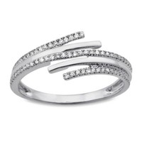 Violet and Sienna 14K White Gold .18 cttw Diamond Wrap Size 6 Ring