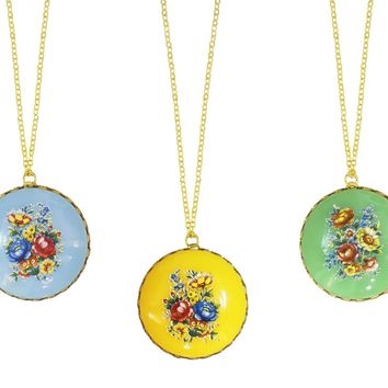 Shabby Chic Colorful Floral Vintage Necklaces-Perfect Holiday Gifts