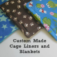 Fleece Cage Liners or Bedding (Guinea Pig, Rabbit, Gerbil, Hedgehog): Custom Made! Warm and Fuzzy!  Absorbent Layer | Guinea Big Blanket