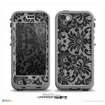 The Black and White Lace Pattern10867032_xl Skin for the iPhone 5c nüüd LifeProof Case
