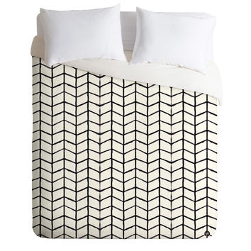 Wonder Forest Grid Lock Duvet Cover