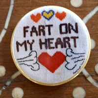 "Fart On My Heart Artist 2.25"" Pinback Button Limited Edition"