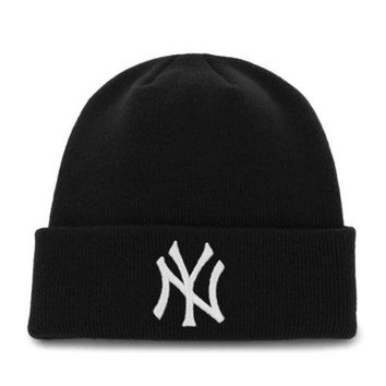'47 Brand Cuffed Beanie Hat - MLB Raised Cuff Knit Cap
