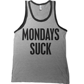 Monday's Suck Mens Tank Top - school work t shirt beer funny  tshirt college bar tee day drinking party