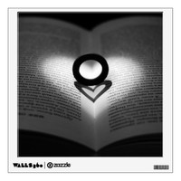 Love Ring and Shadow Heart Wall Decal