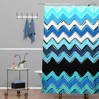 Sharon Turner Ocean Chevron Shower Curtain