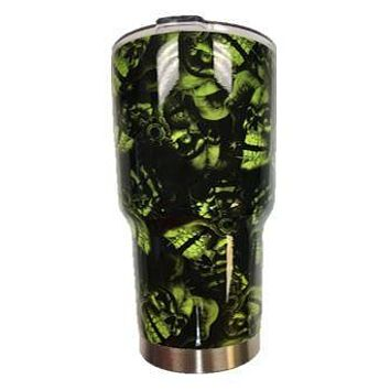 Green Joker Skull Tumbler Warehouse Tumbler