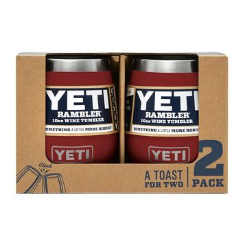 2 Pack Rambler 10oz Wine Tumbler in Brick Red by YETI
