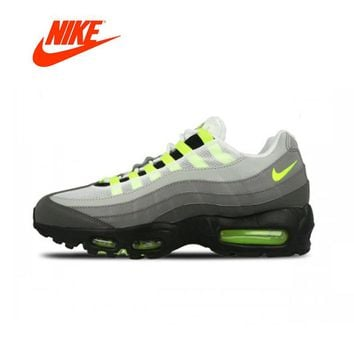 """Original Nike Air Max 95 OG """"NEON"""" Mens Running Shoes Breathable New Arrival Authentic Nike Sneakers Sport Outdoor Good Quality"""