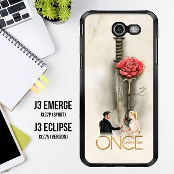 Once Upon A Time Rose X3423 Samsung Galaxy J3 Emerge, J3 Eclipse , Amp Prime 2, Express Prime 2 2017 SM J327 Case