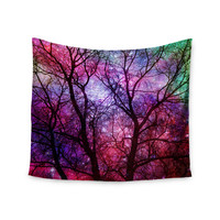 "Suzanne Carter ""Starry Night"" Purple Pink Wall Tapestry"