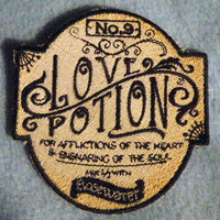 Love Potion No.9 Iron on Patch