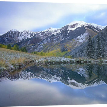 Pond and Mountains, Maroon Bells