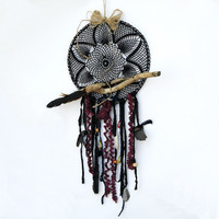 Black lace  Dreamcatcher, traditional Native indian tribial art
