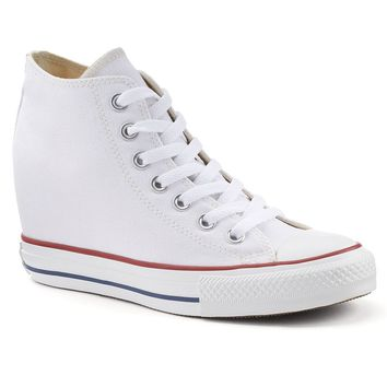 Converse Chuck Taylor All Star Lux Women s Hidden Wedge Mid-Top Sneakers b8e34ded41