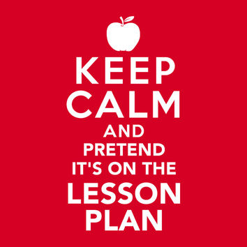 Pretend It's on the Lesson Plan