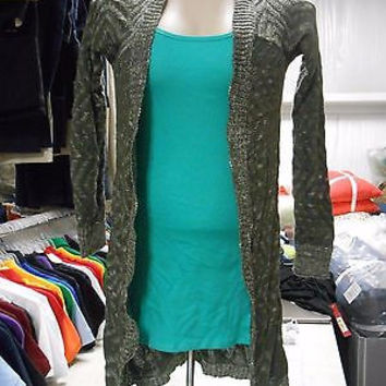 Mossimo Women's Open Front Chevron Stitch Cardigan, Olive Green, XXL