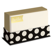 Black and Gold Dots Flat Notes Boxed Set