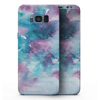 Teal to Pink 434 Absorbed Watercolor Texture - Samsung Galaxy S8 Full-Body Skin Kit
