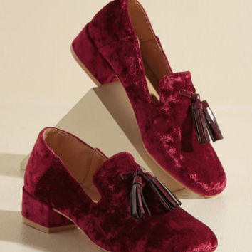 Can't Get Loafer You Velvet Heel | Mod Retro Vintage Heels | ModCloth.com