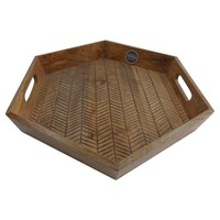 Burned Wood Tray - Threshold™