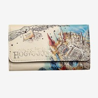 Harry Potter Hogwarts Watercolor Wallet