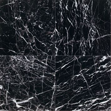 Daltile Natural Stone Collection China Black-Polished 12 in. x 12 in. Marble Floor and Wall Tile (10 sq. ft. / case)-M75112121L - The Home Depot