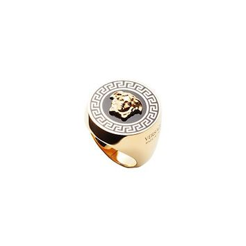 Versace - Greek Line Enamel Ring