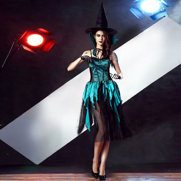 Witch Cosplay Anime Cosplay Apparel Holloween Costume [9220290308]