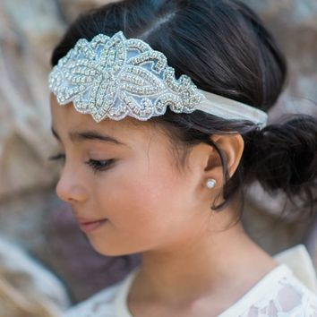 Josephine Ivory Crystal Jewel Headband