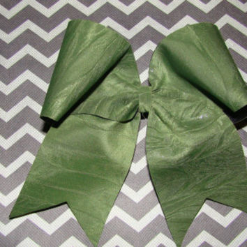 Army Green Cheer Bow by isparklethat on Etsy