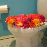 Floral Toilet Seat Cover
