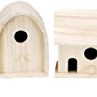 Darice 9180-09 Value Promo Wooden Wren Birdhouse