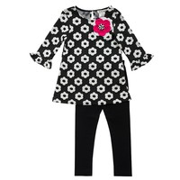 Rare Editions Floral Top & Leggings Set - Girls 4-6x