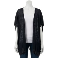 Juniors' Crochet Kimono Cardigan from S.o. R.a.d. Collection by Awesomeness TV, Size: