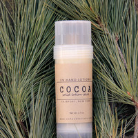 Organic LOTION STICK: Cocoa Twist-Up Tube solid lotion 2.1 oz.