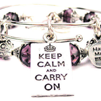 Keep Calm And Carry On Square 2 Piece Collection