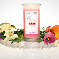 Pink Love Ring Candle