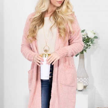 Rose Quartz Chenille Cardigan