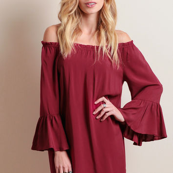 Sweet Talker Off-Shoulder Dress