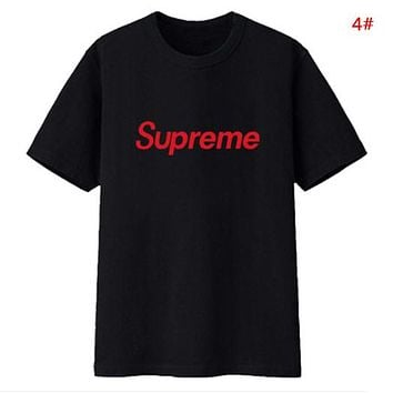 Supreme Fashion New Bust Letter Print Sports Leisure Women Men Top T-Shirt 4#