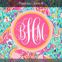 iPhone Monogram Wallpaper Lilly Pulitzer Inspired Peel And Eat